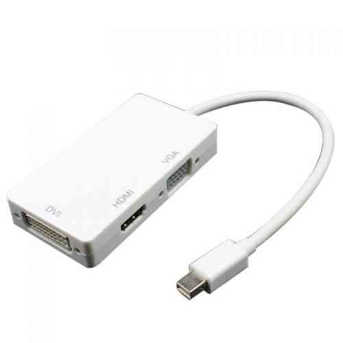 DP Displayport To HDMI DVI VGA,DP-DisplaypoTort-to- HDMI-DVI-VGA-mini-display-port@dmark.lk