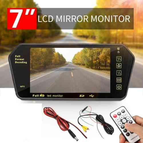 Mirror Monitor Mp5 player,car video player,rear view monitor,7inch lcd mirror monitor