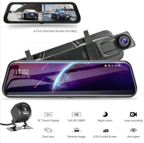 dual lens touch dash camera
