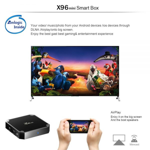 android tv box 16 gb,,X96 Mini Android 7.1 4K TV