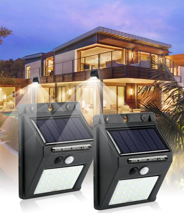 solar powered led wall lamp