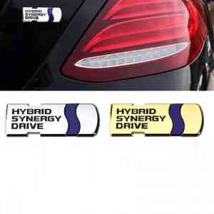 hybrid synergy drive metal badge silver