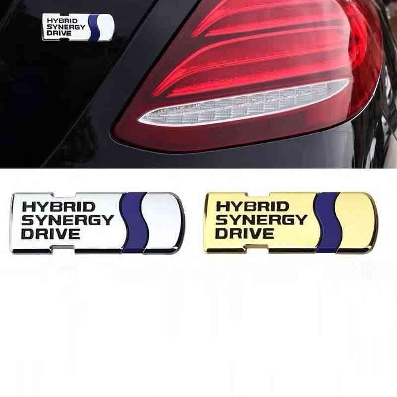 hybrid synergy drive metal badge silver