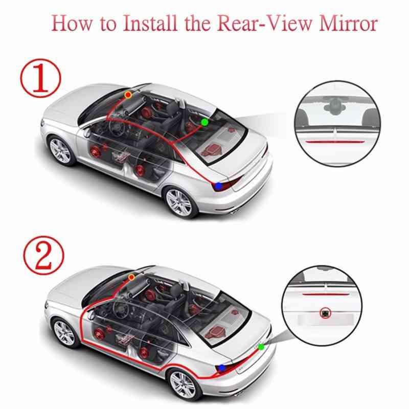 7 Car Full HD mirror monitor with reversing camera sri lanka best price