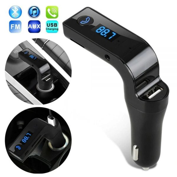 car bluetooth fm transmitter car kit Hands Free mp3 player wireless radio AUX car charger USB SD