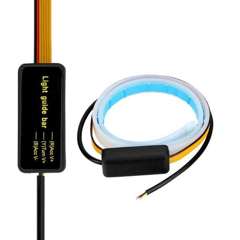 daytime running lamps yellow colour and ice blue