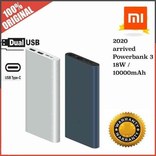 original xiaomi mi power bank 3 with warranty