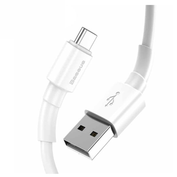 Baseus Mini White Cable USB For Type-C 3A 1m