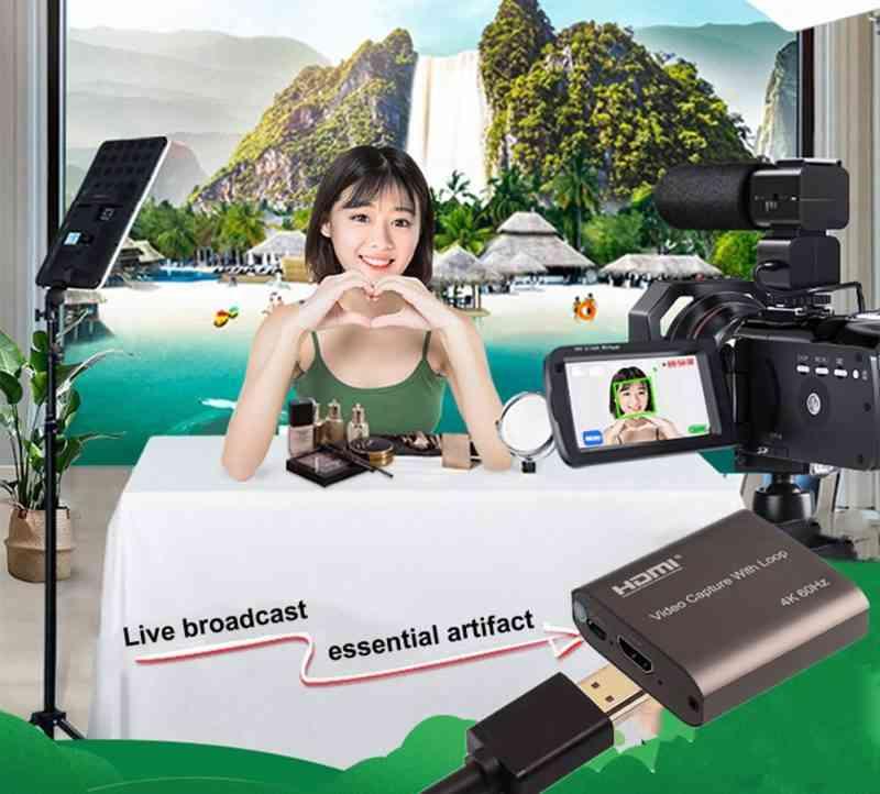 HDMI Video Capture Card TV Loop
